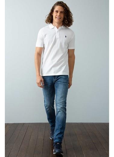 U.S. Polo Assn. U.S. Polo Assn. Polo Yaka Beyaz T-Shirt Beyaz